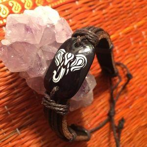 Jewelry - Faux Leather Elephant Adjustable Bracelet